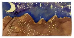 Stars Of Heaven And Earth Beach Towel