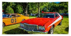 Starsky And Hutch Ford Gran Torino Beach Towel