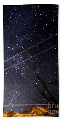 Stars Drunk On Lightpaint Beach Towel by Angela J Wright
