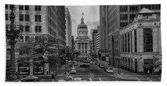 Beach Towel featuring the photograph State Capitol Building by Howard Salmon