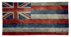 State Flag Of Hawaii Vintage Version Beach Towel