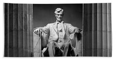 Statue Of Abraham Lincoln Beach Sheet by Panoramic Images