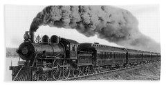 Steam Locomotive No. 999 - C. 1893 Beach Towel
