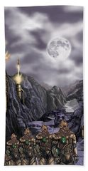 Steampunk Moon Invasion Beach Towel
