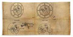 Steampunk Solar Disk Beach Towel