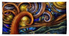 Steampunk - Starry Night Beach Towel