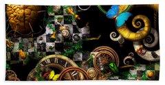 Steampunk - Surreal - Mind Games Beach Towel