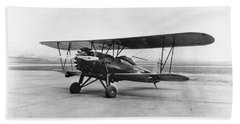 Beach Sheet featuring the photograph Stearman Airplane, 1928 by Granger