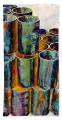 Steel Pipes Beach Towel
