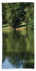 Steele Creek Park Reflections Beach Towel