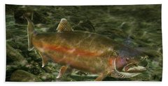 Steelhead Trout Spawning Beach Sheet by Randall Nyhof