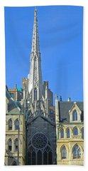 Steeple Of Grace Episcopal Church Nyc Beach Towel