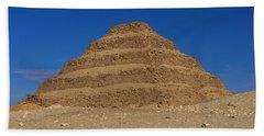 Step Pyramid Of King Djoser At Saqqara  Beach Sheet