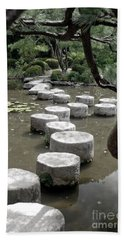 Stepping Stone Kyoto Japan Beach Sheet