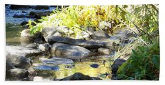 Stepping Stones Beach Sheet by Sheri Keith