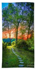 Stepping Stones To The Light Beach Towel by Marvin Spates
