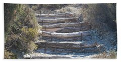 Steps In The Woods Beach Towel by George Katechis
