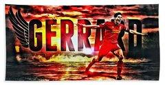 Steven Gerrard Liverpool Symbol Beach Towel