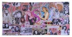 Stevie Nicks Art Collage Beach Towel