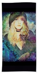 Stevie Nicks - Beret Beach Towel by Absinthe Art By Michelle LeAnn Scott