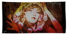 Stevie Nicks - Gypsy Beach Towel by Absinthe Art By Michelle LeAnn Scott