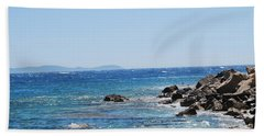 Beach Towel featuring the photograph Stiff Breeze by George Katechis