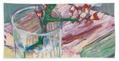 Still Life    A Flowering Almond Branch Beach Towel