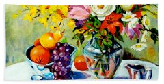 Still Life Creamer Beach Towel