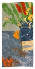 Still Life Flowers Beach Towel