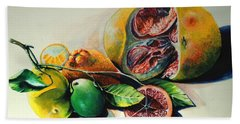 Still Life With Citrus Beach Towel