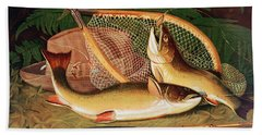 Still Life With A Salmon Trout, A Rod And A Net Beach Towel
