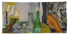 Still Life  With Lamps Beach Towel