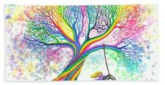 Still More Rainbow Tree Dreams Beach Towel