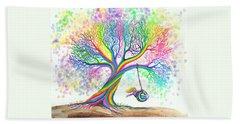 Still More Rainbow Tree Dreams Beach Towel by Nick Gustafson