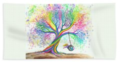 Still More Rainbow Tree Dreams Beach Sheet