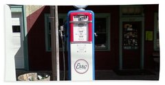 Old Stillwater Garage And General Store  New Jersey And Esso Gas Pump Beach Towel by Carol Wisniewski