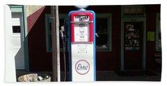 Old Stillwater Garage And General Store  New Jersey And Esso Gas Pump Beach Sheet by Carol Wisniewski