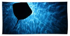 Stingray Silhouette Beach Towel