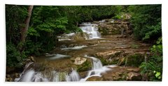 Beach Towel featuring the photograph Stockbridge Falls by Dave Files