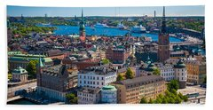 Stockholm From Above Beach Towel