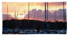 Beach Towel featuring the photograph Stockton Sunset by Deena Stoddard