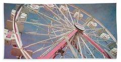 Stock Show Ferris Wheel Beach Towel