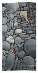 Stone Beach Keepsake Rocky Beach Shells And Stones Beach Towel