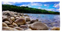 Stone Beach Beach Sheet by Zafer Gurel