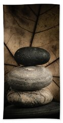 Stone Cairns II Beach Sheet by Marco Oliveira