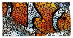 Stone Rock'd Clown Fish By Sharon Cummings Beach Towel