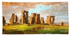 Stonehenge Beach Towel