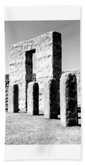 Beach Towel featuring the photograph Stonehenge Replica by Chalet Roome-Rigdon