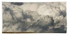 Storm And Sagebrush Desert  Beach Towel