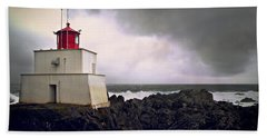 Storm Approaching Beach Towel by Micki Findlay
